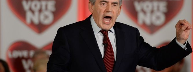 "Des McNulty – ""Gordon Brown's intervention in No campaign marks a political resurrection"""