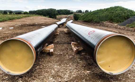 Pipeline construction between Clueden and Brighouse,
