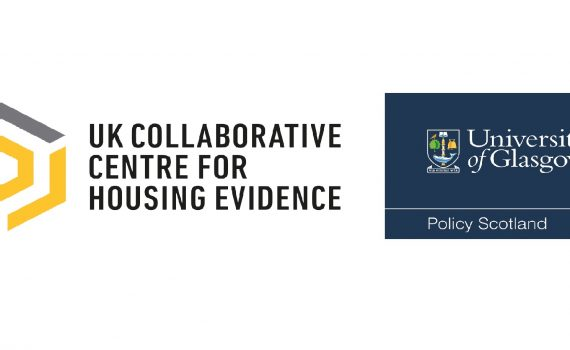 Logos for CaCHE, the UK Collaborative Centre for Housing Evidence and Policy Scotland, part of University of Glasgow
