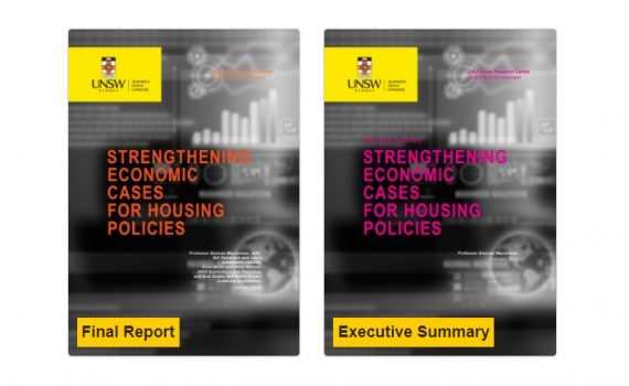 Covers of the full and summary reports for Strengthening Economic Cases for Housing Policies