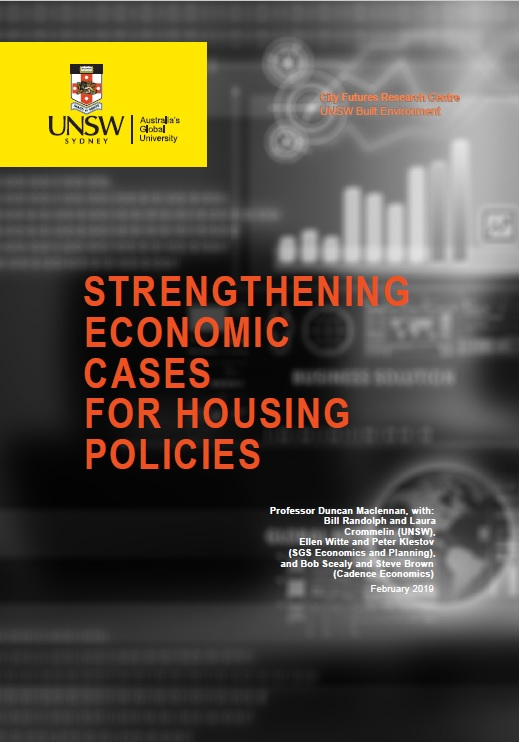 Cover of the report for Strengthening Economic Cases for Housing Policies report