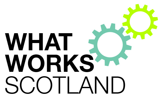 What Works Scotland logo with the organisation name and two cogwheels