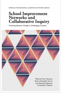 Cover of book School Improvement Networks and Collaborative Inquiry: Fostering Systemic Change in Challenging Contexts with the authors' names: Mauricio Pino Yancovic, Alvaro González Torres, Luis Ahumada Figueroa and Christopher Chapman