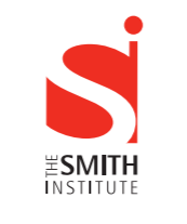 Logo of The Smith Institute with a big white S on a red background and a big red i on a white background