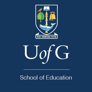 Logo of the Glasgow University School of Education with the school name, the initials U of G and the University crest
