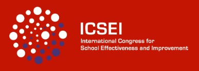 Logo of ICSEI with the words International Congress for School Effectiveness and Improvement and a circle made up of different sized and coloured dots